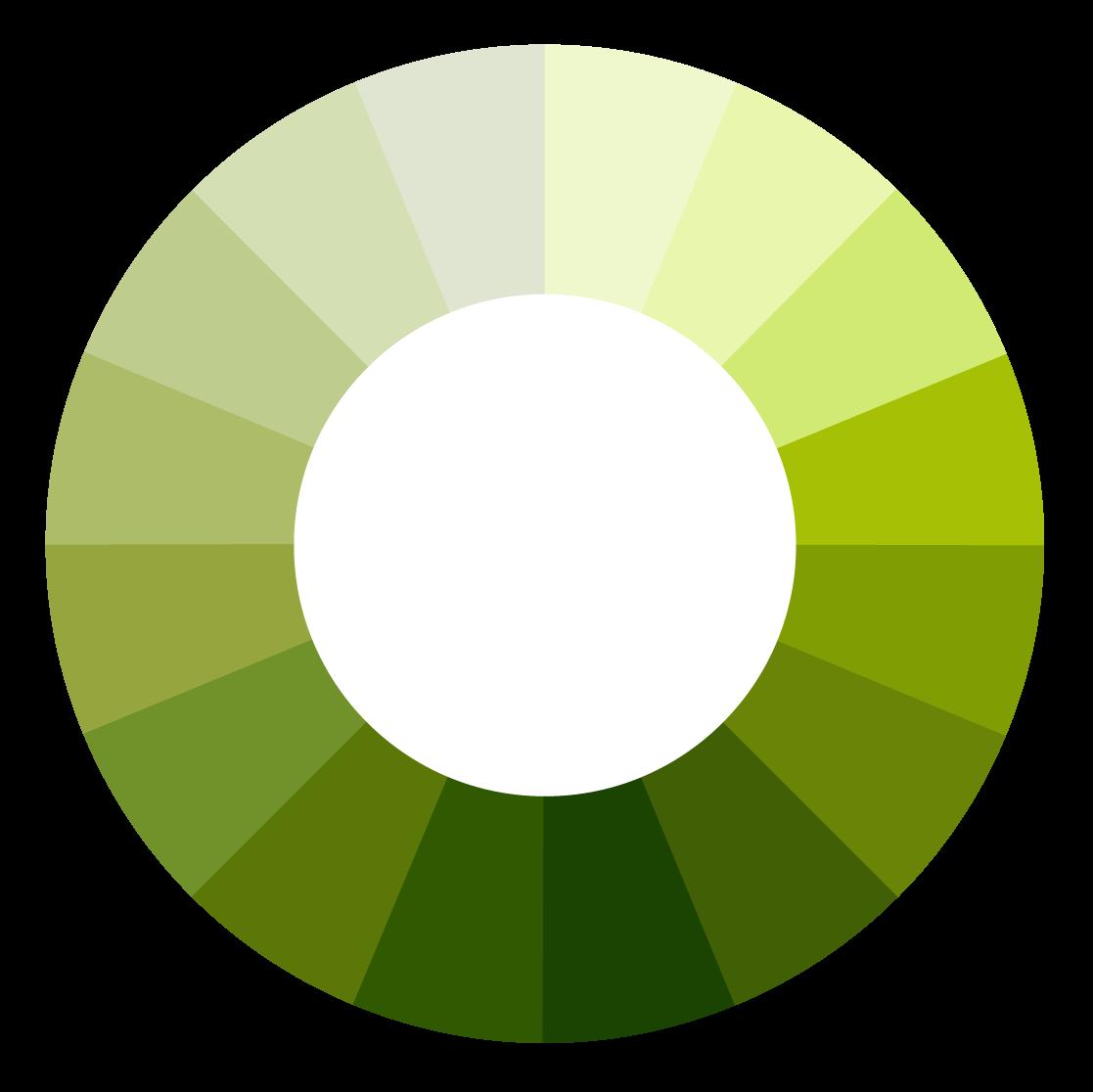 Green Color Wheel